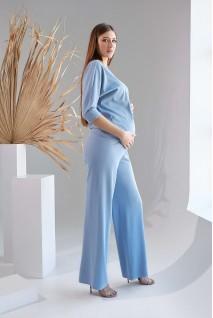 Брюки 2129 1530 голубой для беременных