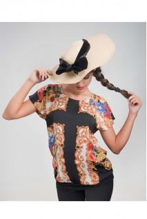 Блуза цветочный принт 1413 0949 для беременных