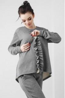 Кофта серого цвета 1804 1030 для беременных и кормления