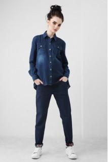 Сорочка синя джинсова 1822 0000 для вагітних
