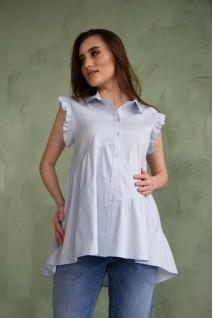 Сорочка блакитна 2043 0000 для вагітних