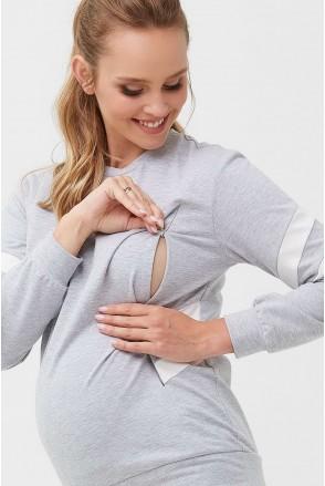 Кофта 2085 1360 Сірий Для вагітних і годування