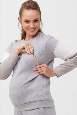 Кофта 2094 1093 Сірий Для вагітних і годування