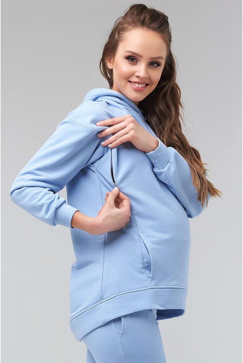 Худі 2135 1500 Блакитний для вагітних і годування