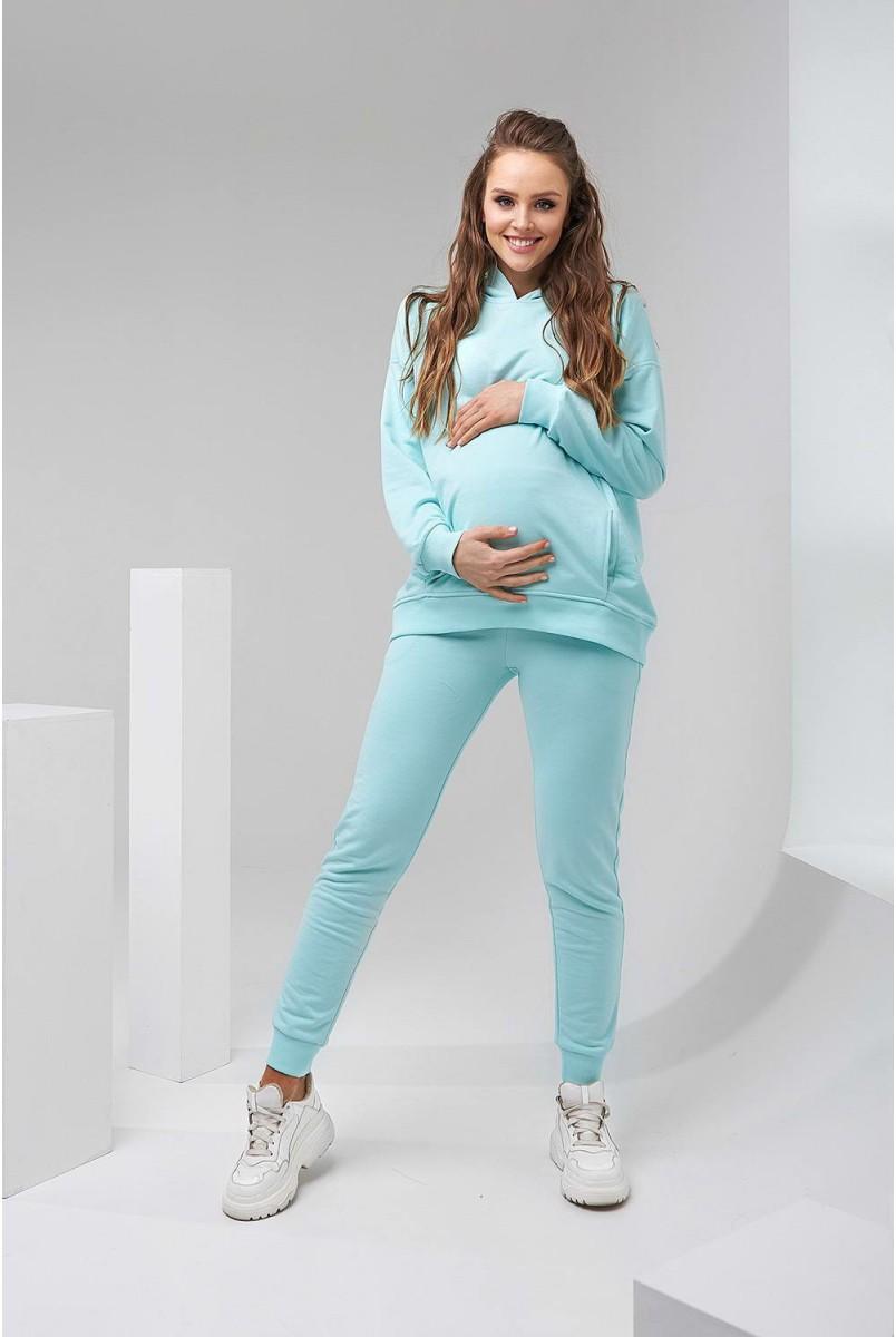 Худі 2113 1461 м'ятний для вагітних і годування