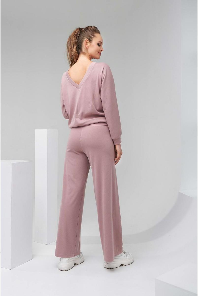 Кофта 2128 1510 пудрово-рожевий для вагітних