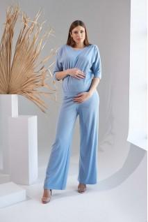 Кофта 2159 1530 голубой для беременных