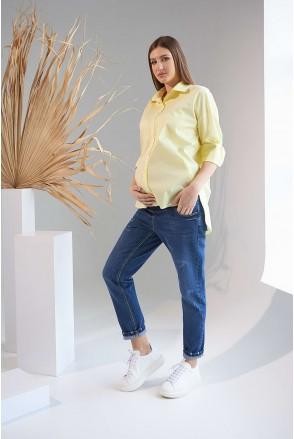 Рубашка 2151 1525 желтый для беременных и кормления