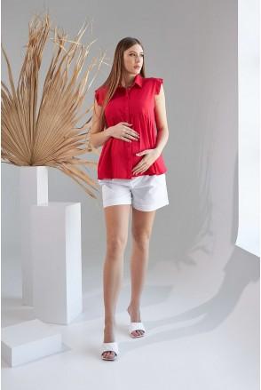 Рубашка 2157 1519 красный для беременных и кормления