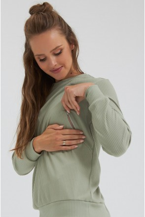 Кофта для беременных и кормления Dianora 2186 1565 фисташковый