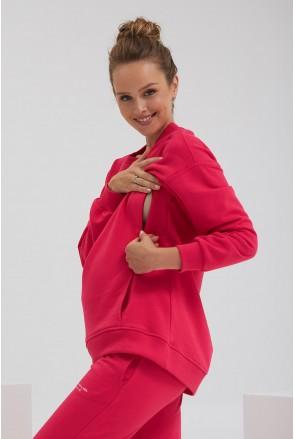 Світшот для вагітних та годування Dianora 2187 1563 малиновий