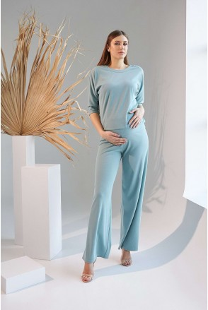 Костюм 2159(29) 1531 голубой для беременных