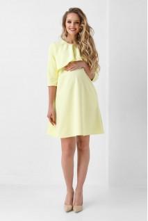 Сукня арт. 1903 1076 лимонний для вагітних і годування