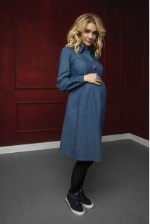 Платье синий джинс 1763 1009 для беременных и кормления