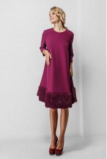 Сукня бордового кольору 1774 1015 для вагітних