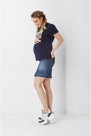 Юбка синий джинс 1900 0032 для беременных