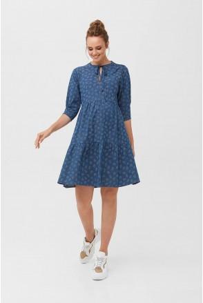 Сукня 2097 1415 Синій Для вагітних і годування