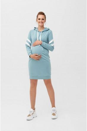 Сукня 2090 1407 блакитно-зелений для вагітних і годування