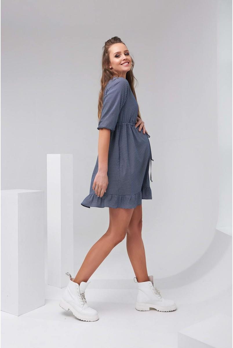 Сукня 2120 1009 Синій Для вагітних і годування