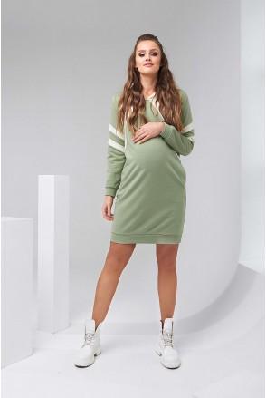 Платье-худи 2143 1452 фисташковый для беременных и кормления