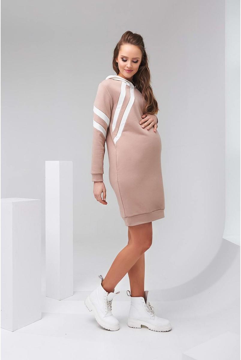 Сукня-худі 2143 1501 бежевий для вагітних і годування