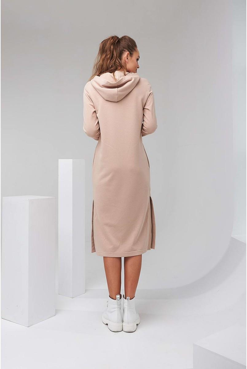 Сукня-худі 2126 1501 бежевий для вагітних і годування