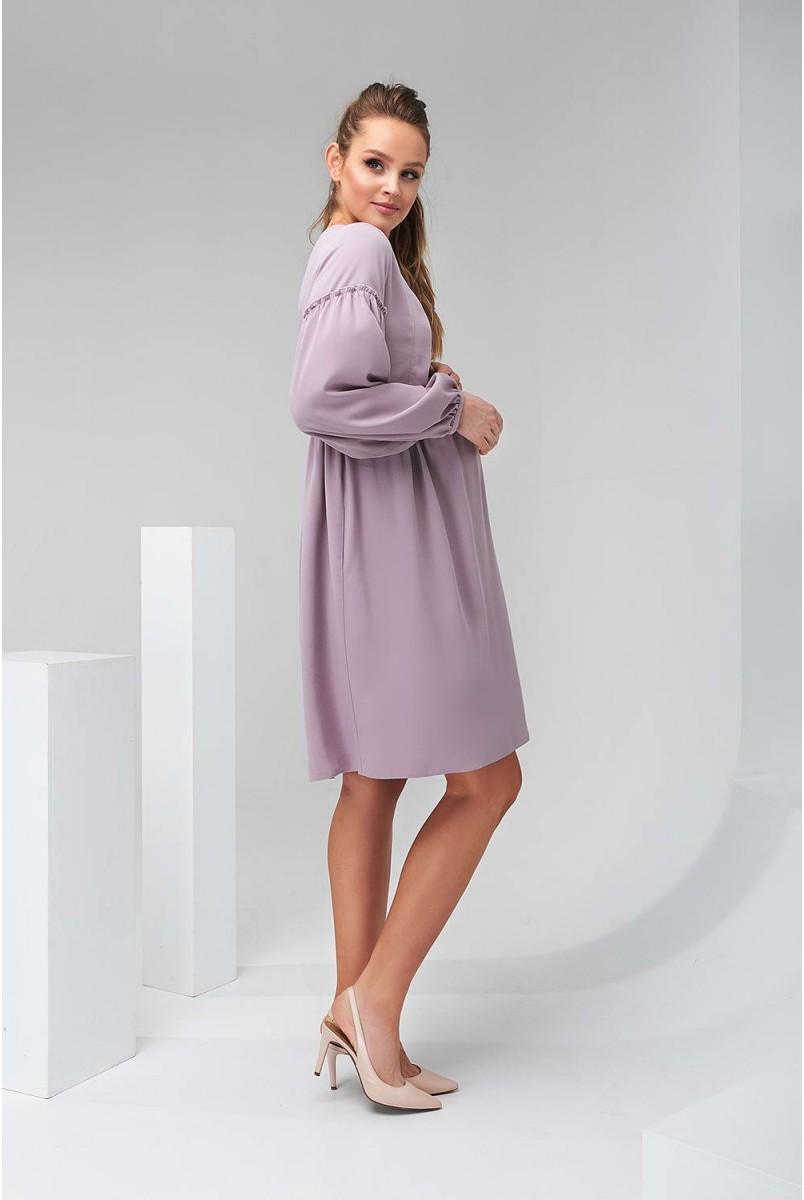 Сукня 2140 1511 темно-лавандовий для вагітних і годування