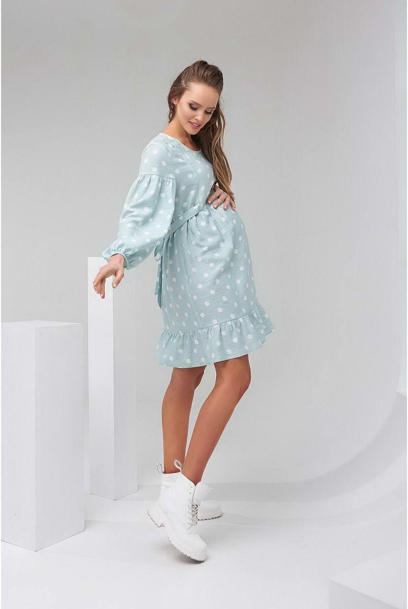 Сукня м'ята в горохи 2141 1513 для вагітних і годування