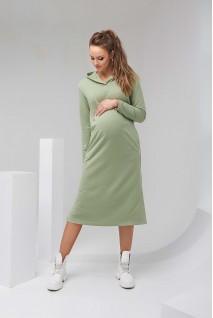 Платье-худи 2126 1452 фисташковый для беременных и кормления