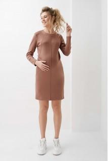 Сукня арт. 2020 1314 шоколадний для вагітних і годування