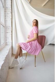 Сукня 2154 1526 рожевий для вагітних і годування