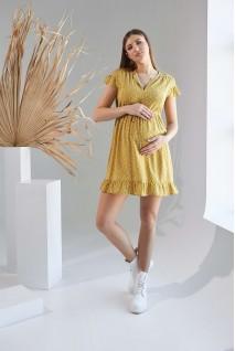 Сукня 2152 1527 гірчичний для вагітних і годування