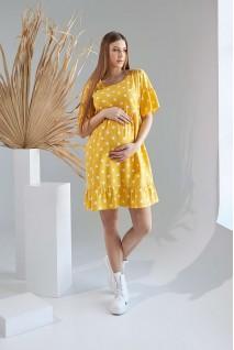 Платье 2156 1515 желтый для беременных и кормления
