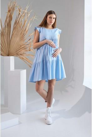 Сукня 2155 1508 блакитний для вагітних і годування