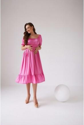 Сукня 2103 1545 рожевий для вагітних