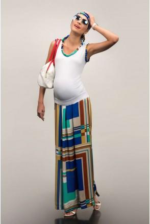 Спідниця для вагітних Dianora 1327 0788 кольоровий принт