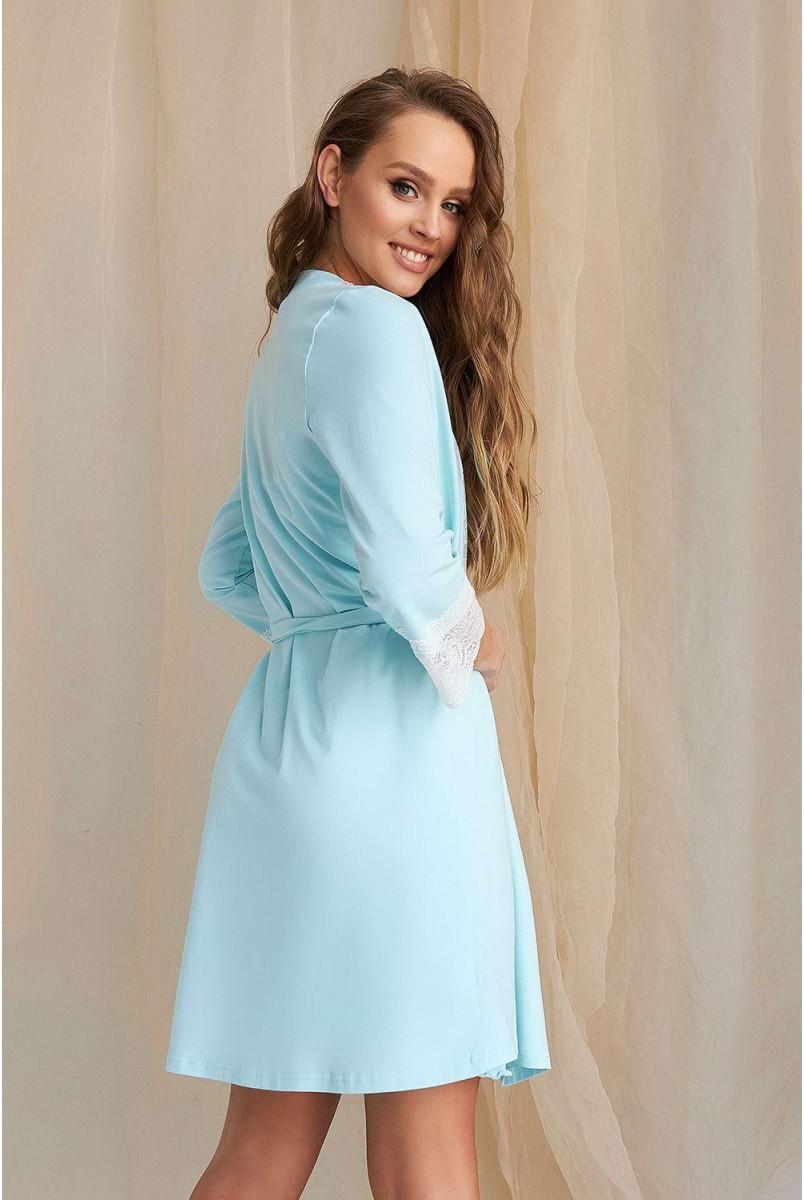 Халат 2065 1454 Блакитний для вагітних і годування