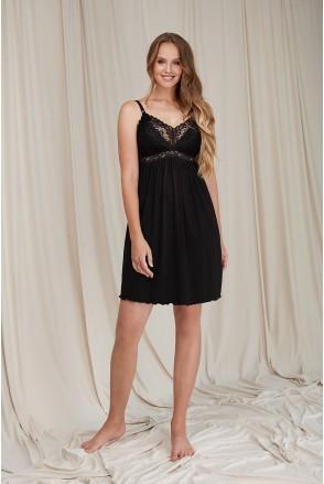Ночная рубашка для беременных и кормления Dianora 2066 1458 черный