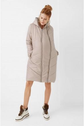 Куртка 1893 1240 2 в 1 бежевый для беременных