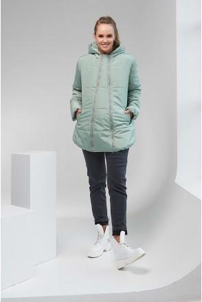Зимняя куртка 1780 1430 2 в 1 фисташковый Alexa для беременных