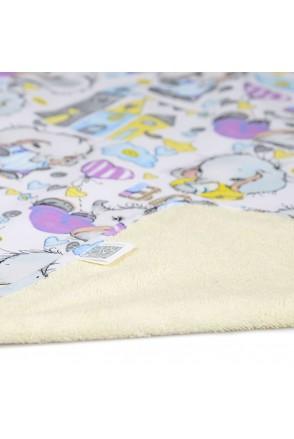 Пелюшка двостороння непромокаюча ЕКО ПУПС Eco Cotton (Слоник Baby)