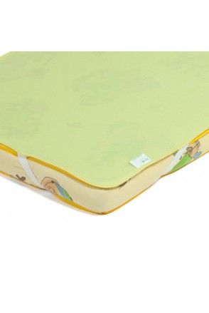 Детский непромокаемый наматрасник ЭКО ПУПС Поверхность Premium (Зеленый)