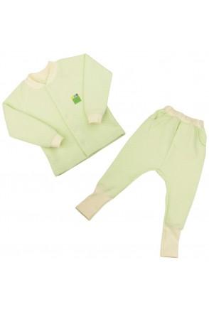 Детский комплект 2в1 Еко Пупс Jersey Style капитон (кофта, брюки) (Салатовый)