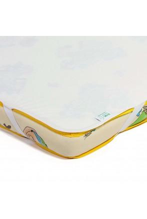 Детский непромокаемый наматрасник ЭКО ПУПС Поверхность Premium (Молочный)