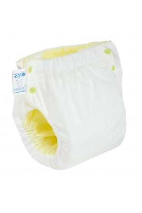 Подгузник трикотажный ЭКОПУПС Easy Size Premium с вкладышем Abso Maxi (Белый)