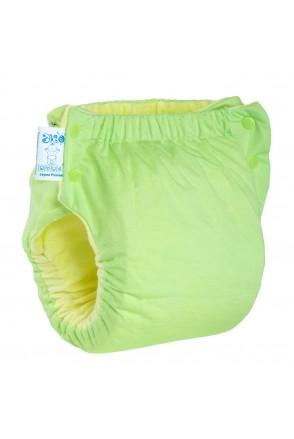 Подгузник трикотажный ЭКОПУПС Easy Size Premium с вкладышем Abso Maxi (Зеленый)