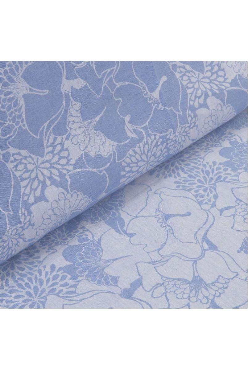 Слінг-шарф Hoppediz Jacquard Florenz blau 30% linen