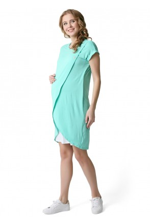 """Платье """"Тюльпан"""" ментол для беременных и кормящих"""