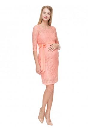 """Платье """"Марджори"""" персиковое для беременных"""