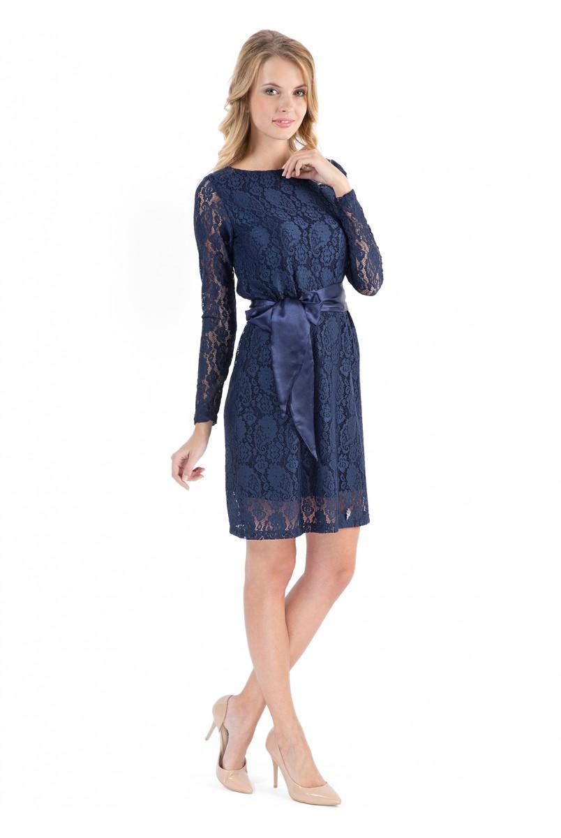 """Сукня """"Маріанна"""" темно-синя для вагітних"""